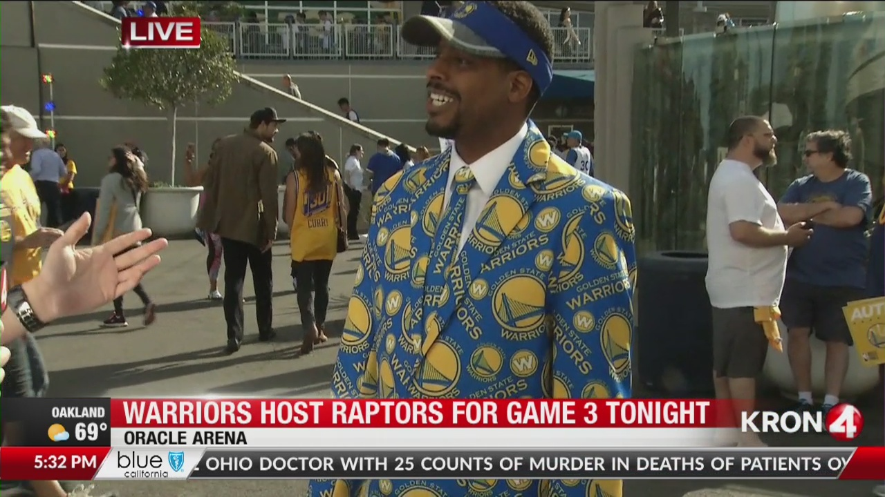 Warriors host Raptors for Game 3
