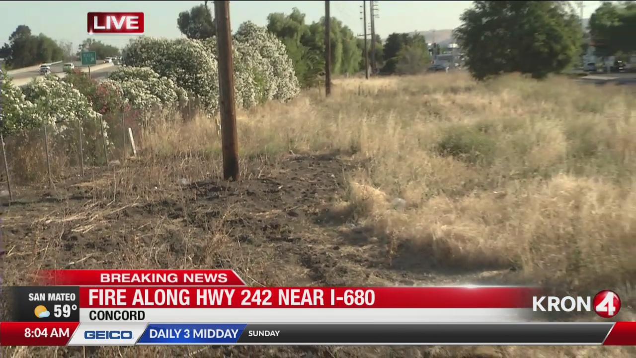 Crews contain grass fire in Concord   KRON4