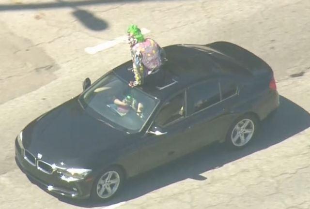 Man dressed like 'Joker' leads police on chase in Orange County