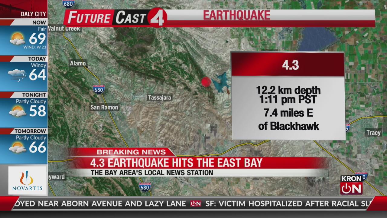 Magnitude 4 3 earthquake rattles East Bay | KRON4