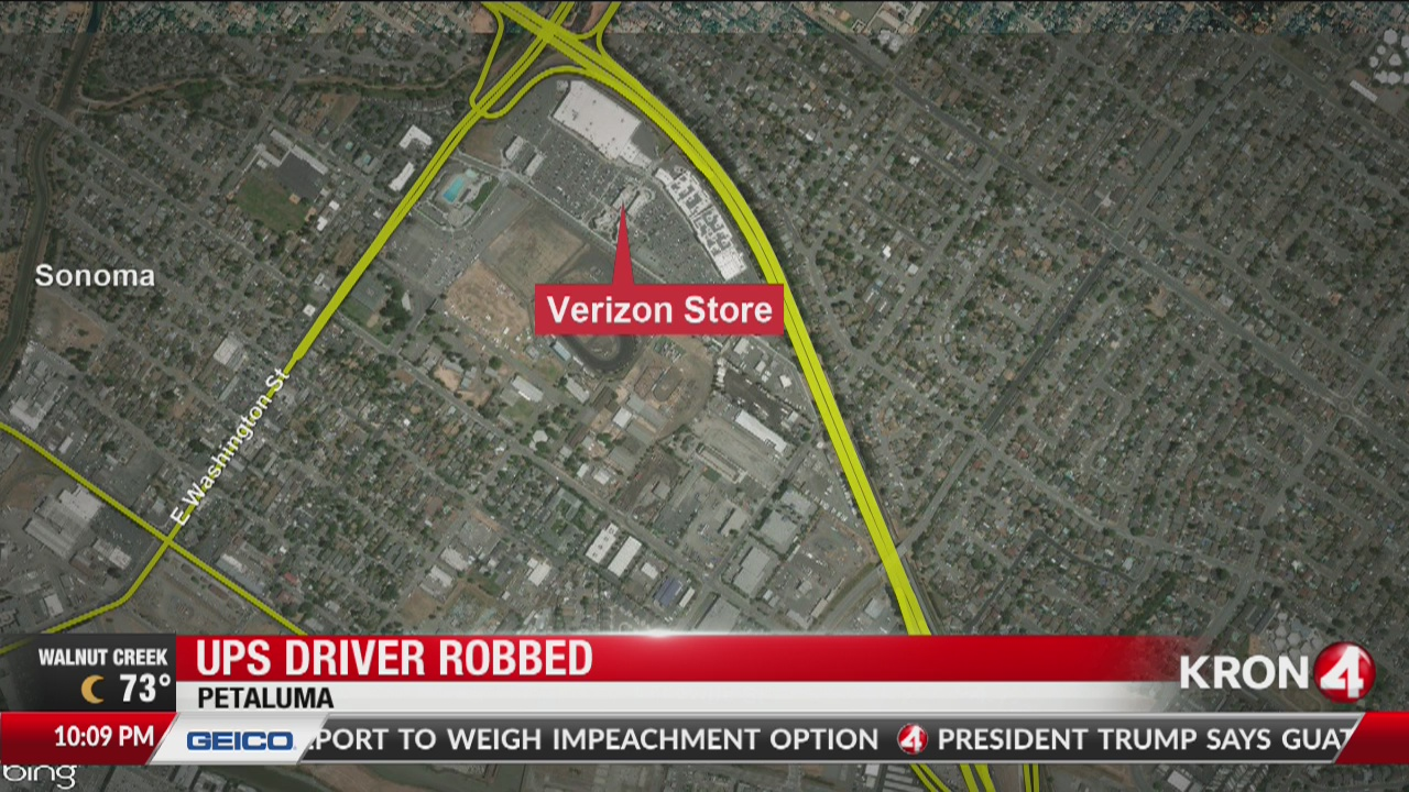 Police search for 3 suspects who robbed UPS driver in