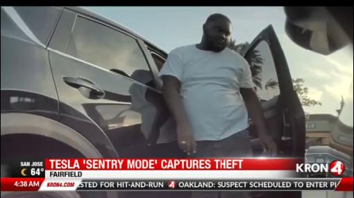 Tesla thieves caught on camera in Fairfield   KRON4