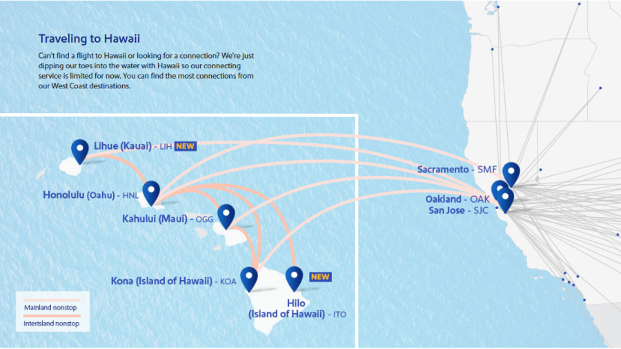 Southwest offers additional $99 flights to Hawaii from Bay Area