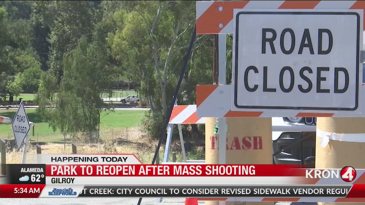 Christmas Hill Park Shooting.Christmas Hill Park Reopens For 1st Time Since Gilroy Mass