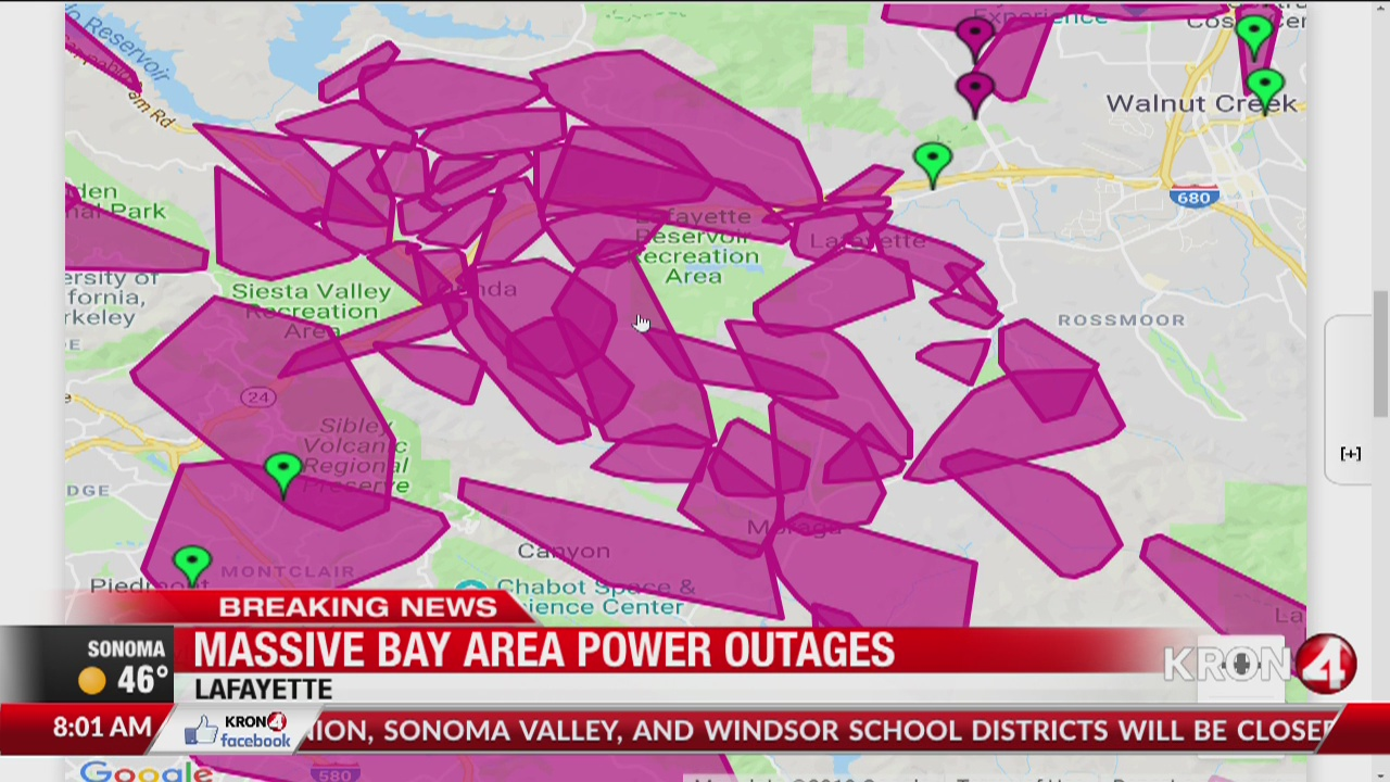PG&E shutoffs impact more than a million people in Northern