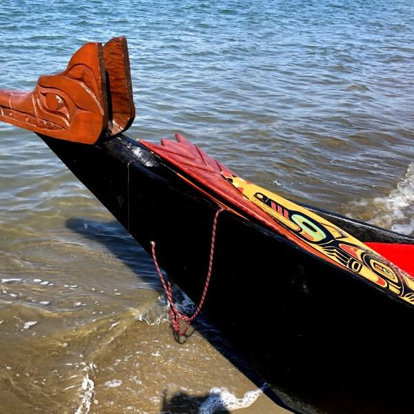 Native American canoe