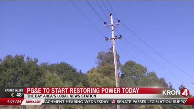 PG&E to start restoring power today
