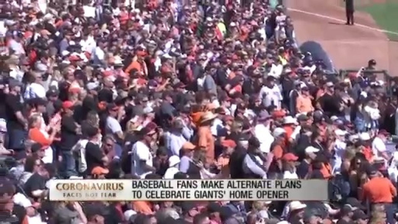 Baseball fans find new ways to celebrate Giants' home opener