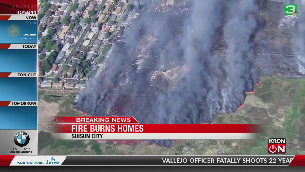 Fire Burning In Suisun City Grows To 300 Acres 11 Homes Destroyed Or Damaged Kron4