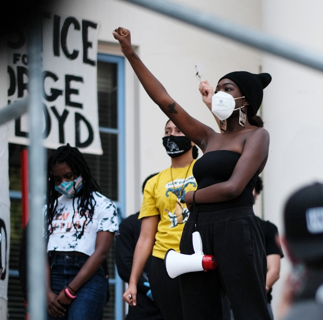 Punk Cover Show Oakland Halloween 2020 Black Lives Matter protesters voice opposition, support for Bay