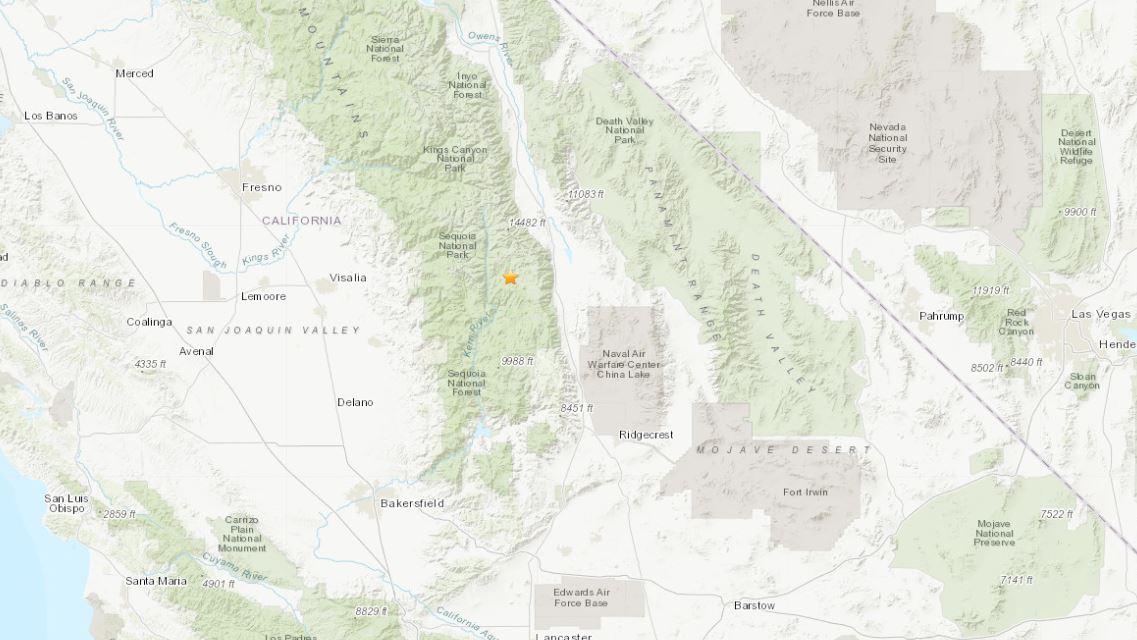 5 8 Magnitude Earthquake Hits Central California Kron4