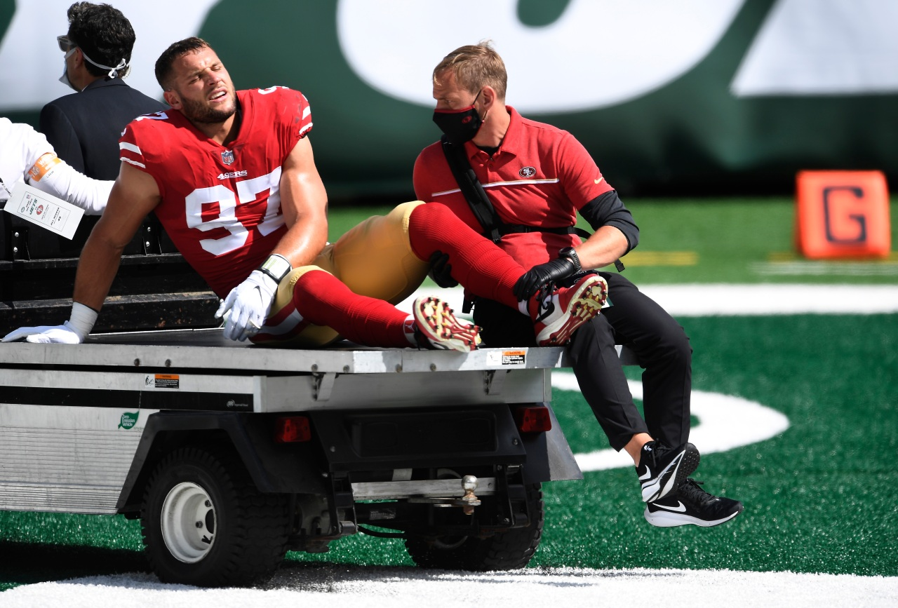 49ers DE Nick Bosa to miss rest of season, MRI confirms torn ACL