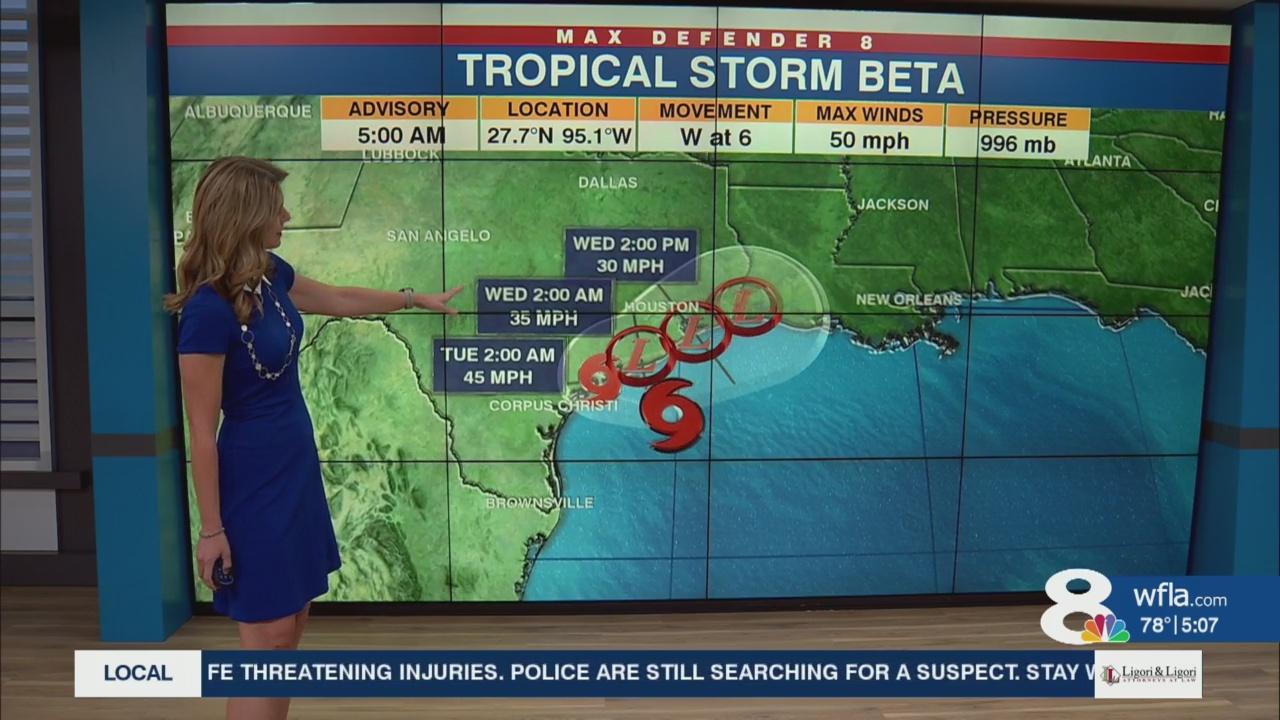 Tracking the Tropics: Storm surge warning issued for Texas, Louisiana coasts ahead of Beta