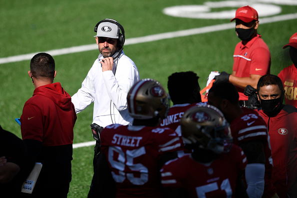 NFL fines 49ers' head coach Kyle Shanahan for not wearing mask