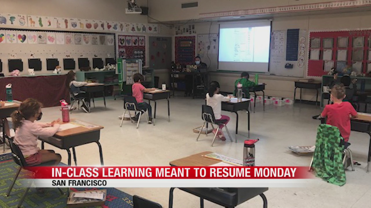 In-class learning meant to resume Monday