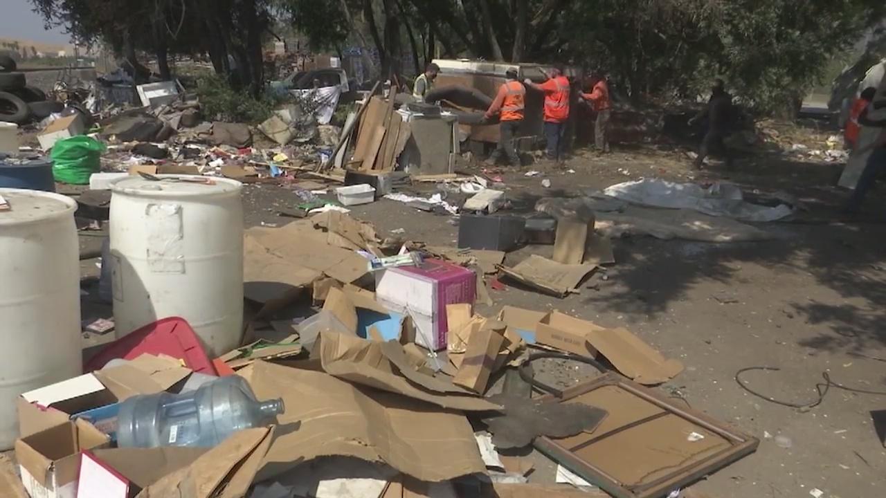 Clean-up efforts begin at illegal dumpsite in San Jose