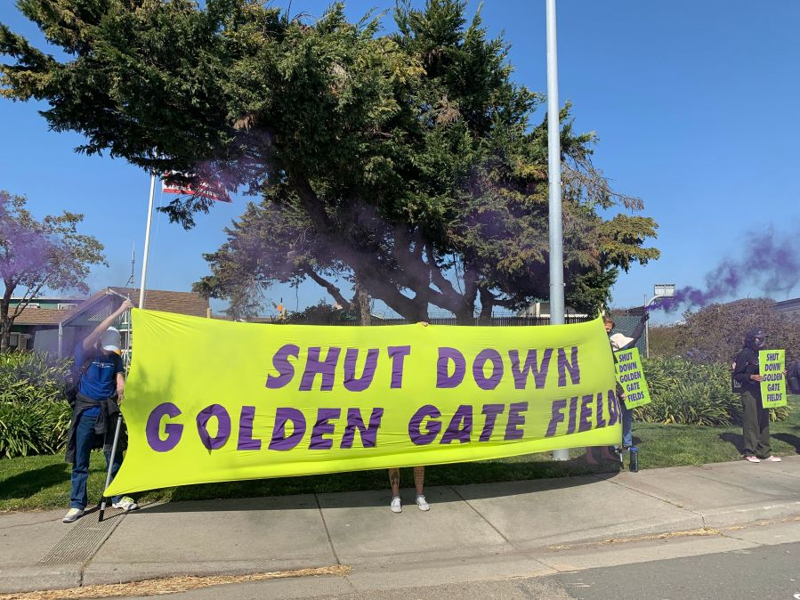 Animal rights protest shuts down Golden Gate Fields vaccination site