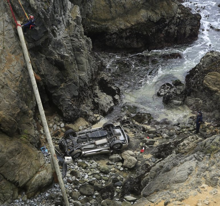 Mother, daughter killed after car plunged over Bodega Bay cliff identified