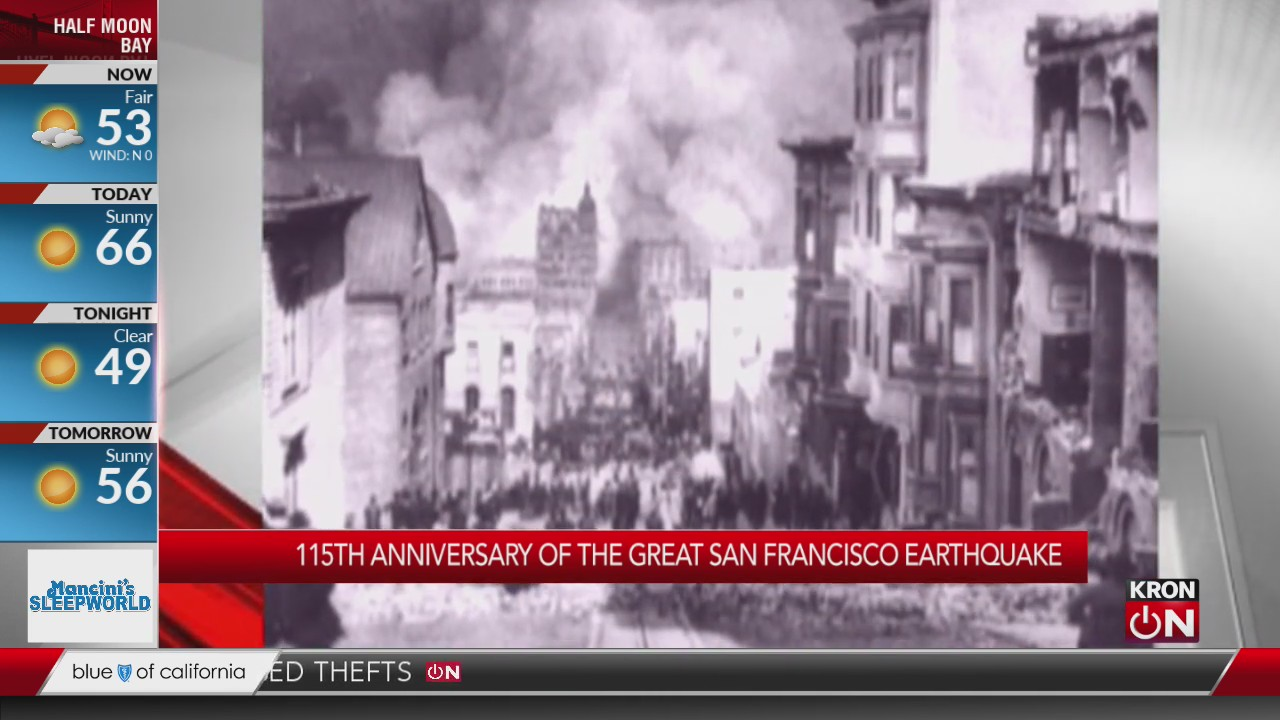 115th anniversary: Remembering 1906 San Francisco earthquake