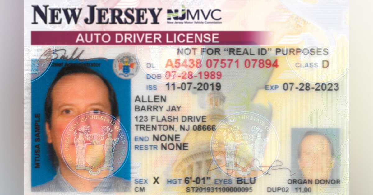 New Jersey adds 'X' gender option on driver's licenses and IDs