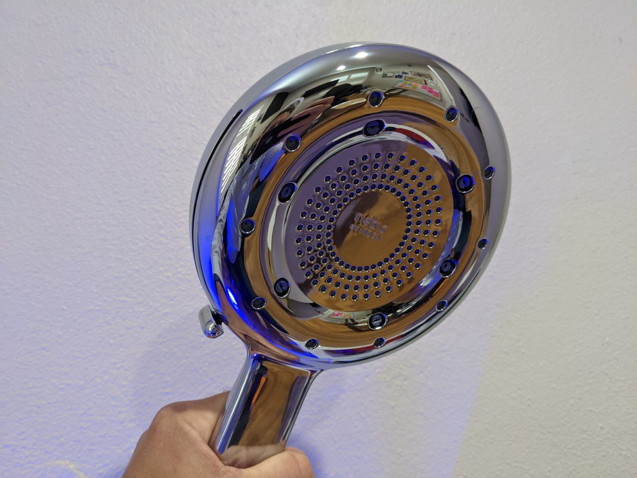 High-tech shower head makes it hard to believe it's actually saving water