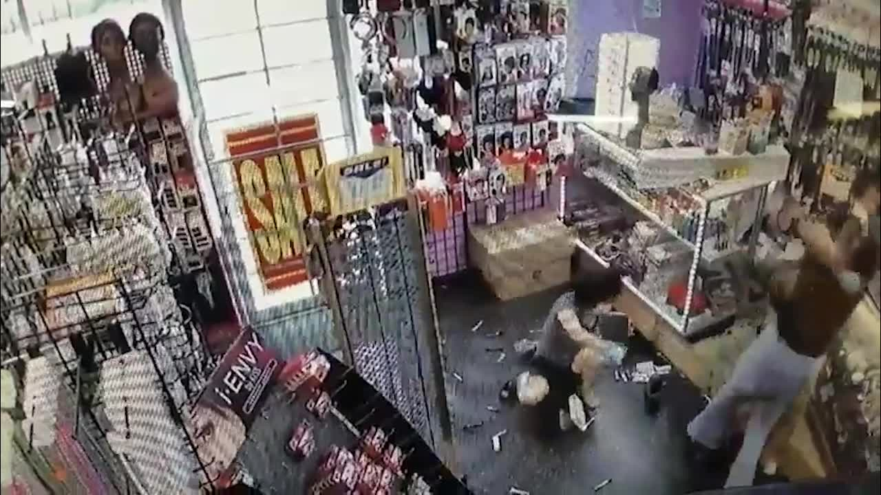 Caught on video: Woman attacks store owners after card declined