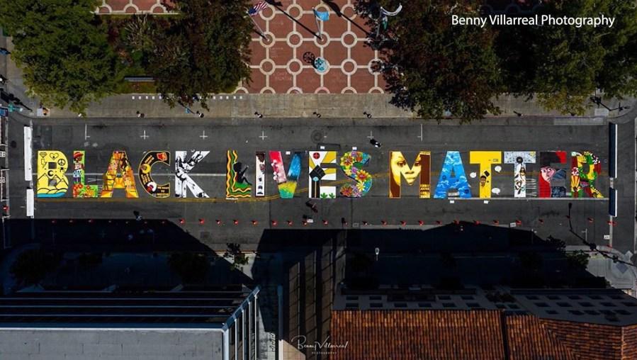 BLM mural in Palo Alto