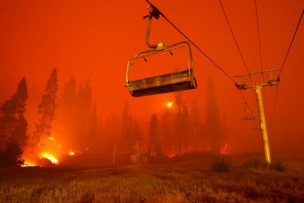 See it: Lake Tahoe has apocalyptic orange skies