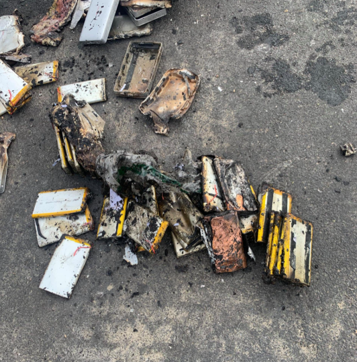 Lithium batteries cause fire inside Campbell garbage truck