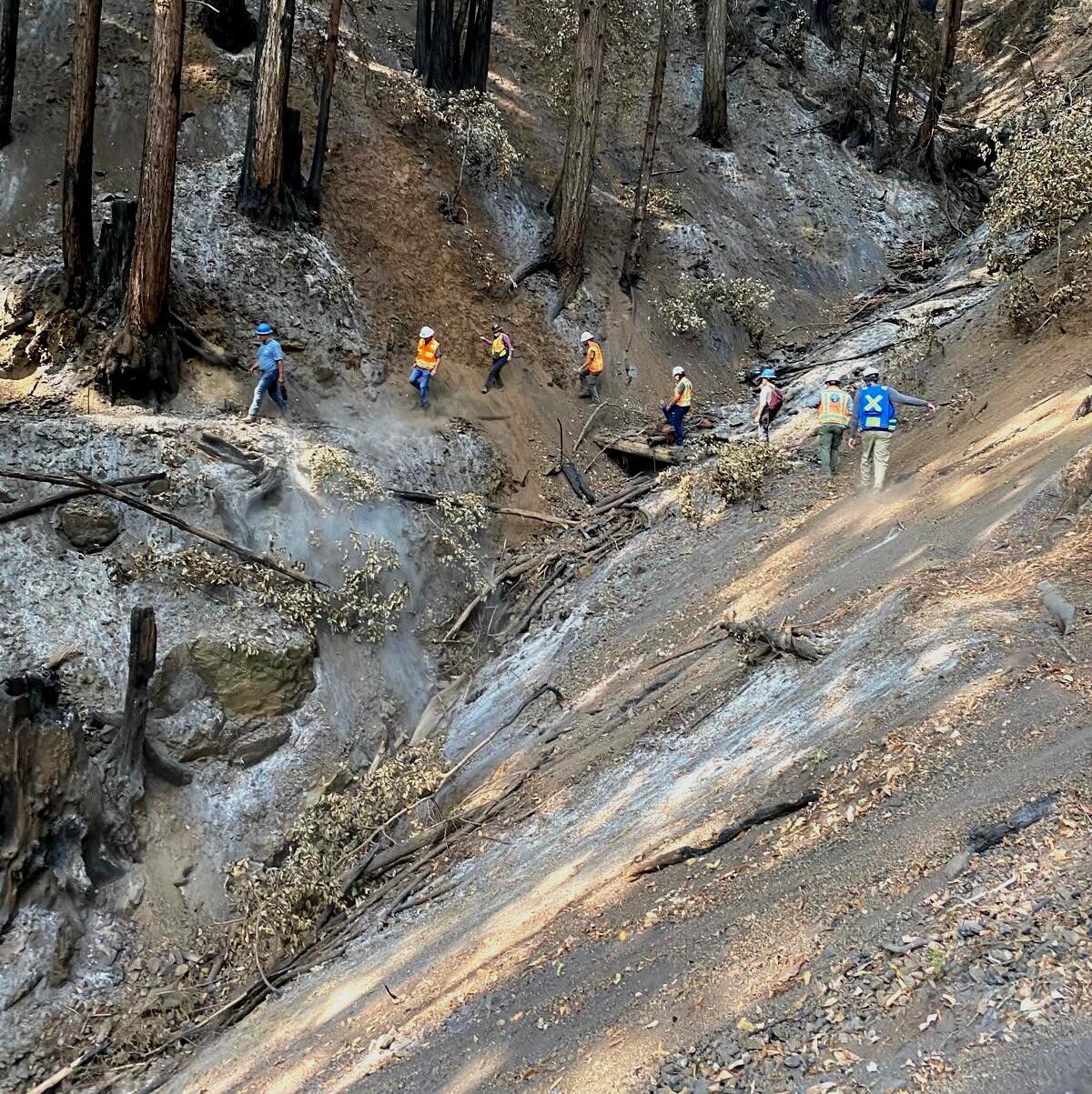 Geologists CZU burn scar