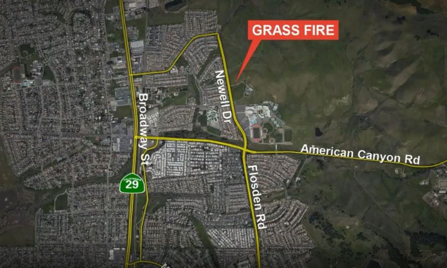 American Canyon grass fire grows to 150 acres, 50% contained